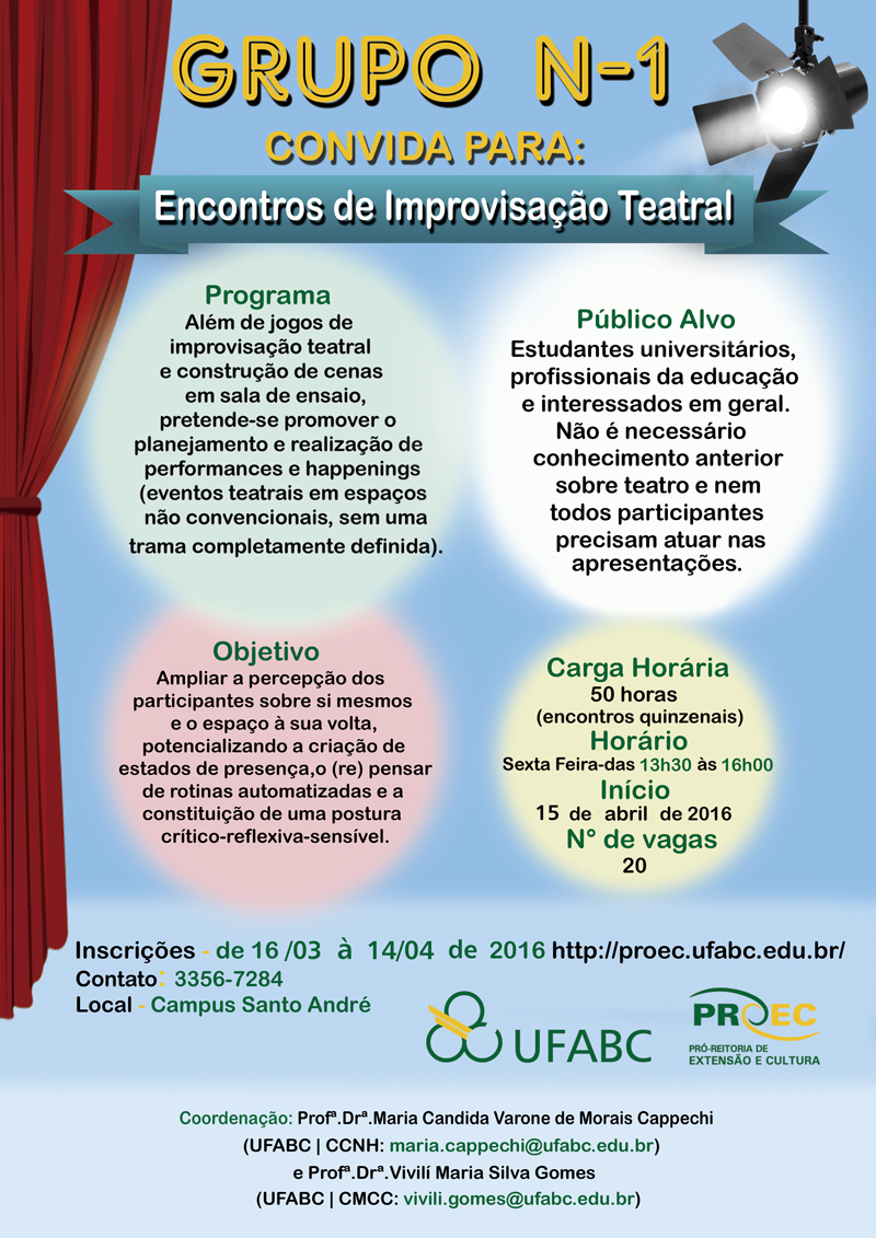 Cartaz Improvisacao Teatral