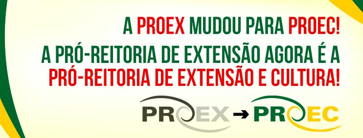 Slide mudança PROEX UFABC - PROEC UFABC