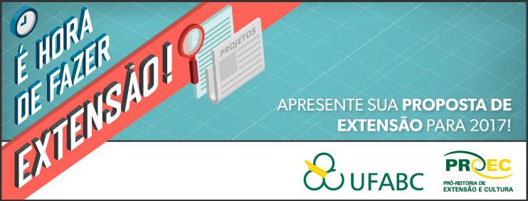 Editais de Extensão UFABC para 2017 - PAAE