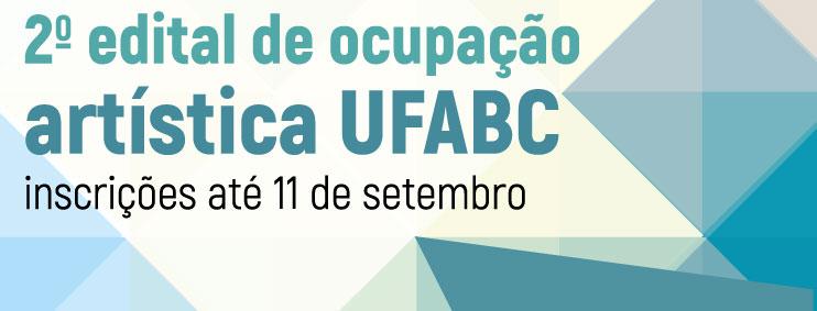 2º Edital de Ocupação Artística da UFABC