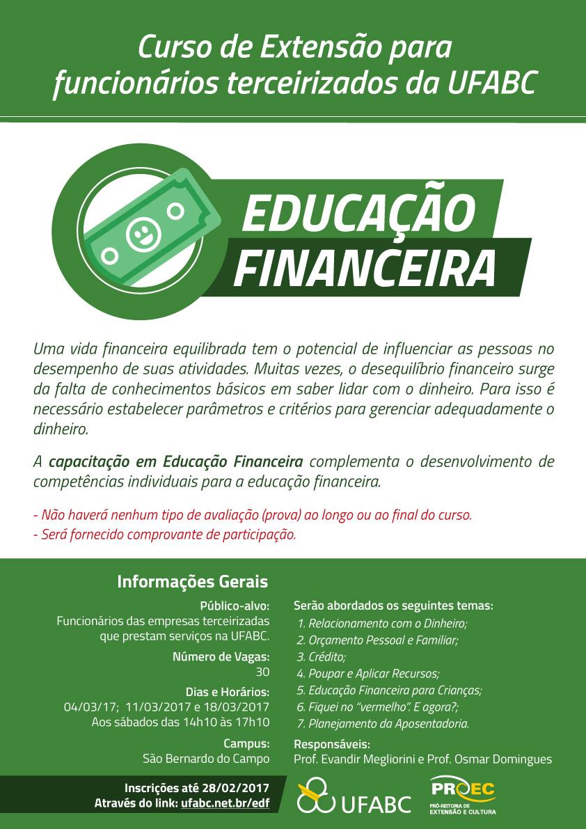Favoritos Curso de Educação Financeira para funcionários terceirizados da UFABC NF96