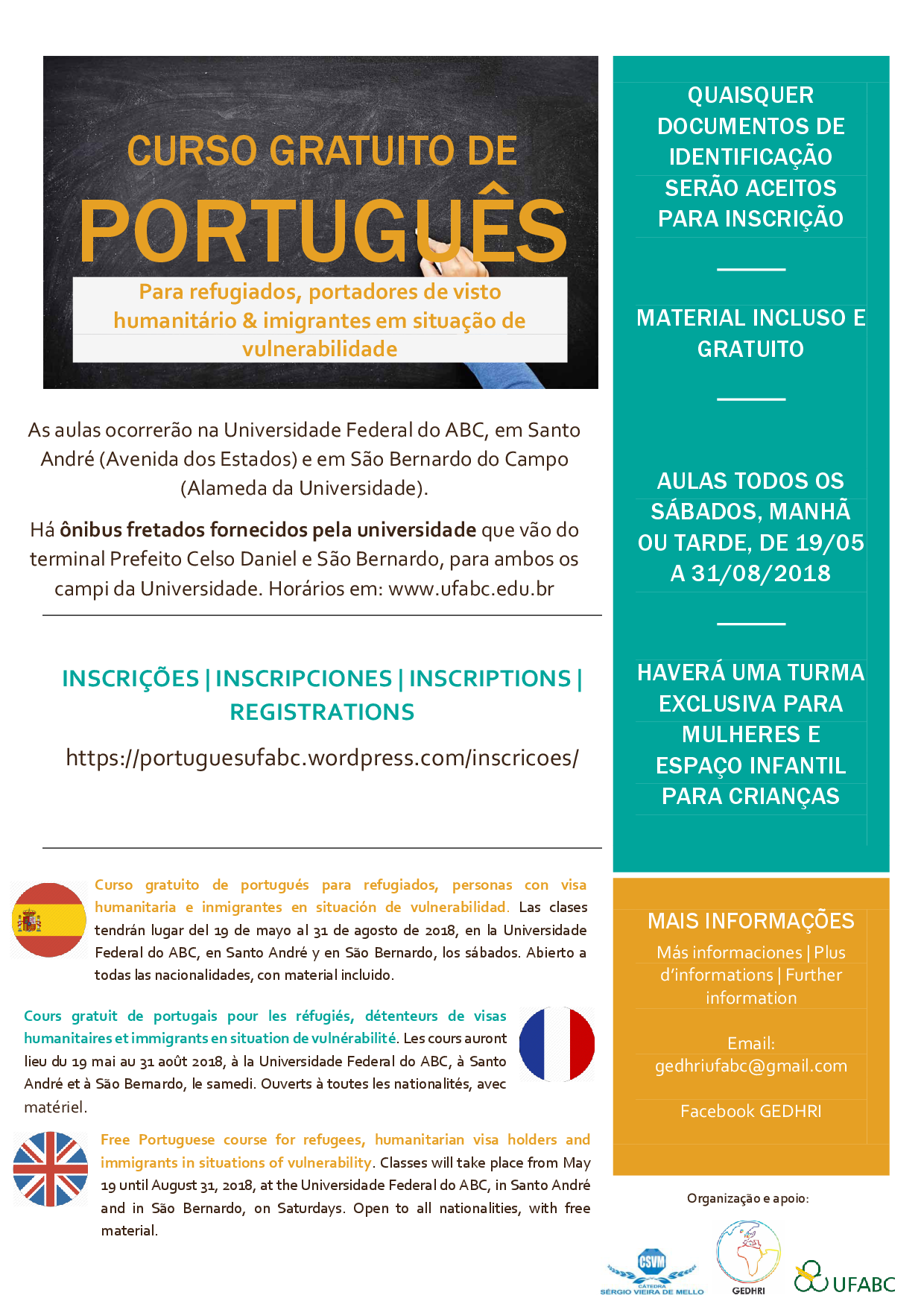 portugues refugiados migrantes 2018