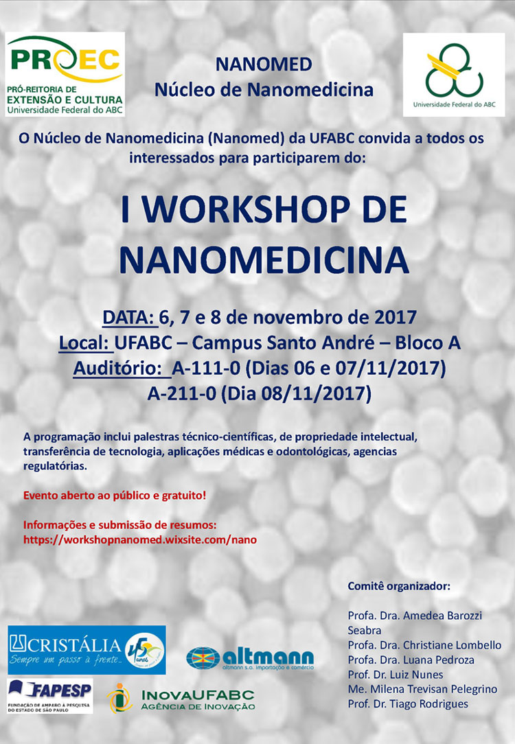 cartaz I workshop em nanomedicina da ufabc