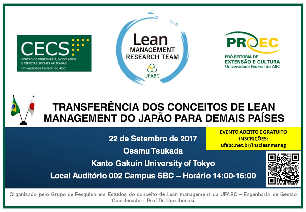 cartaz evento lean management japao ufabc