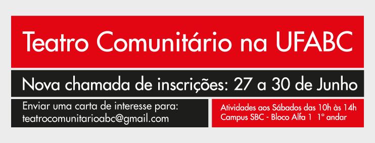 Teatro Comunitário na UFABC - Inscrições